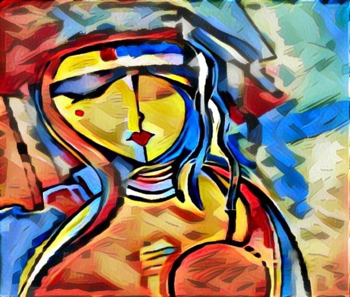 The Strength of a Woman....Original art by Gina Welds Hulse
