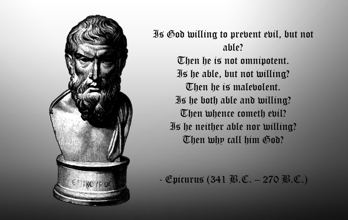 Epicurus nearly 2000 years ago was thinking the same thoughts.