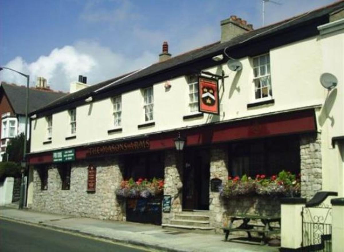 The Mason's Arms pub in Devon England.