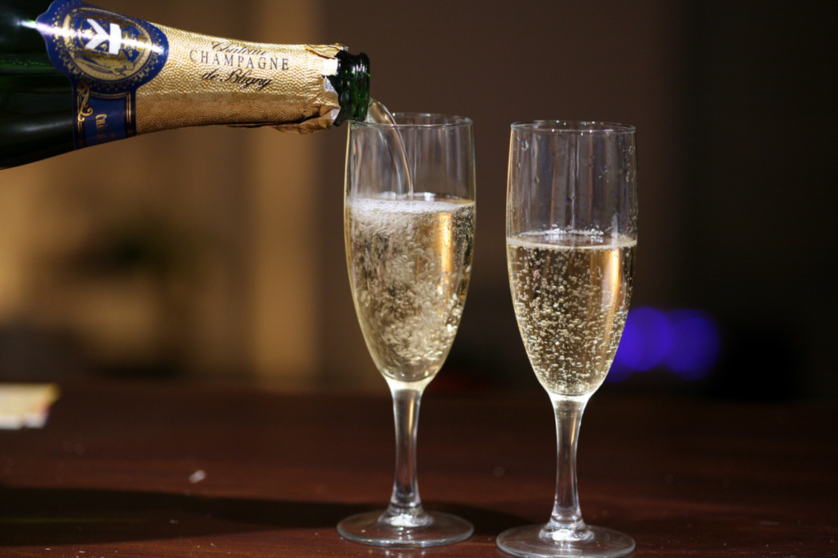 Champagne for congratulations and celebrations.