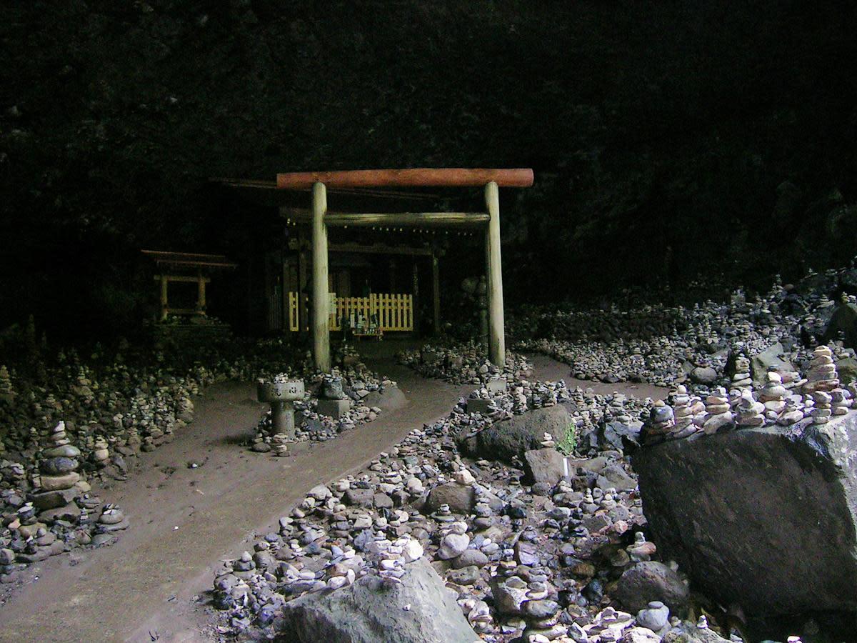 Ama-no-Iwato, the Heavenly Rock Cave in Kyushu, where Sun Goddess Amaterasu once hid herself.