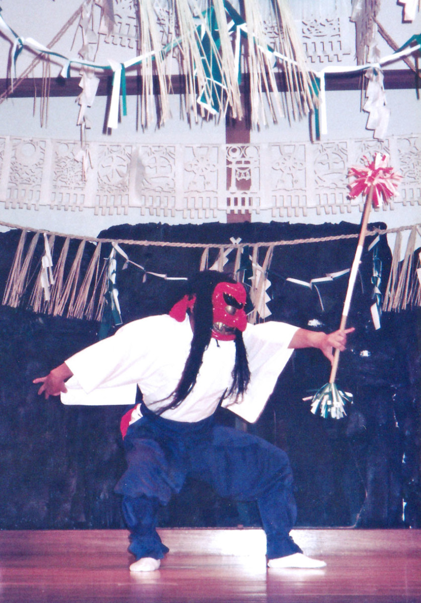 Yokagura performance at Takachiho in the 90s.