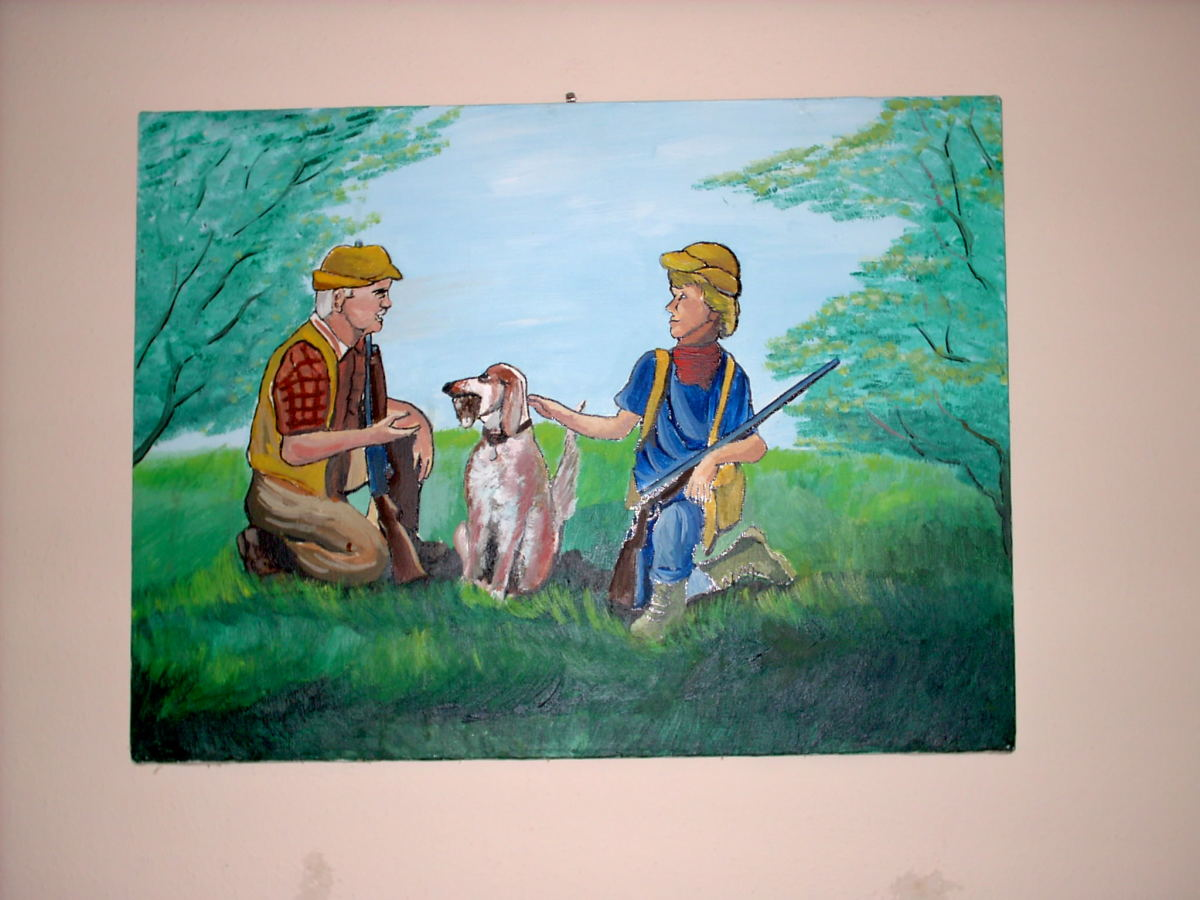 A painting just for Dad and his son...