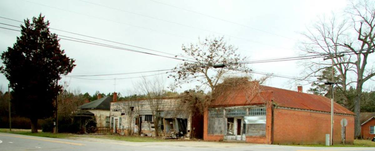 Formerly booming mill towns are now ghost towns.