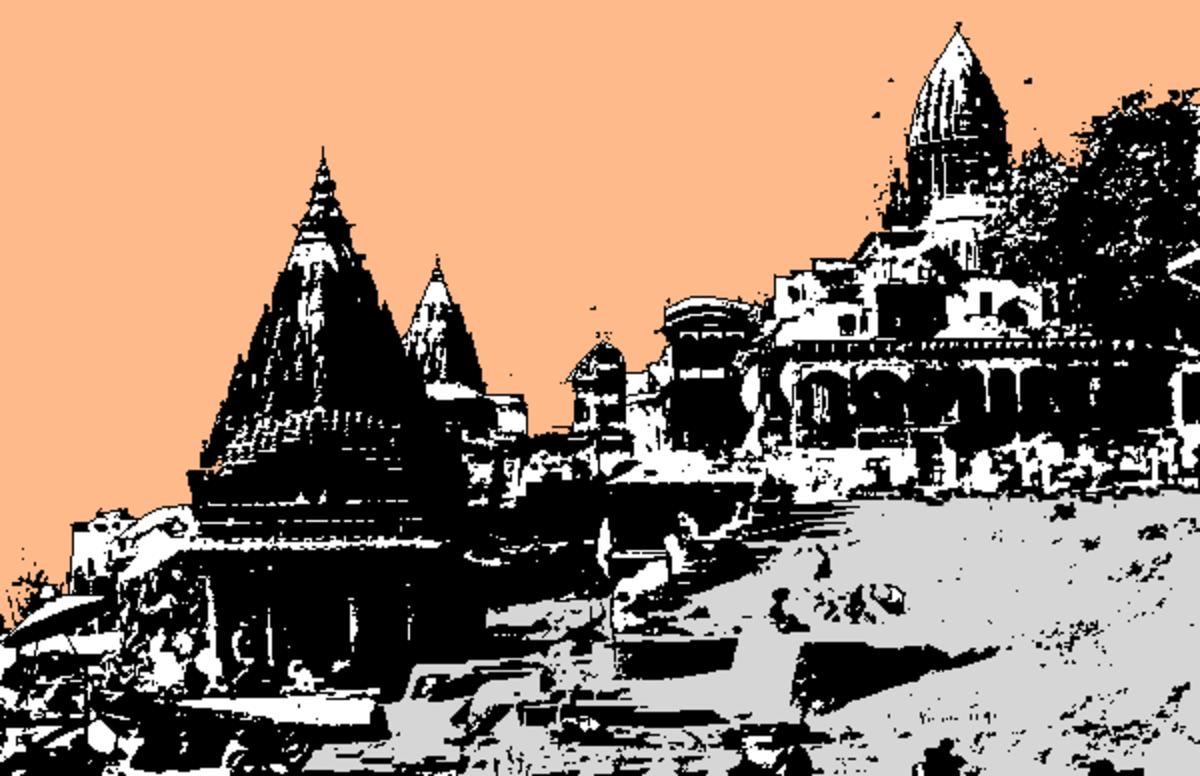 The ghats of Benaras