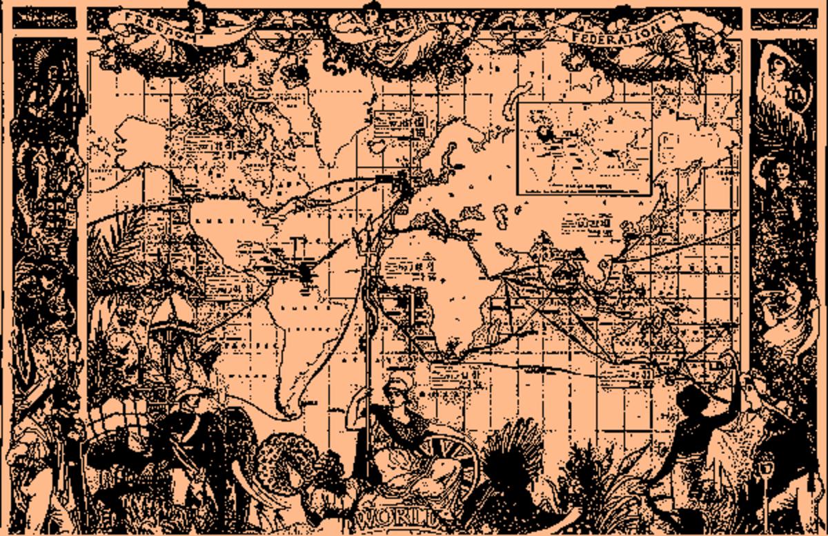 The spread of the British Empire