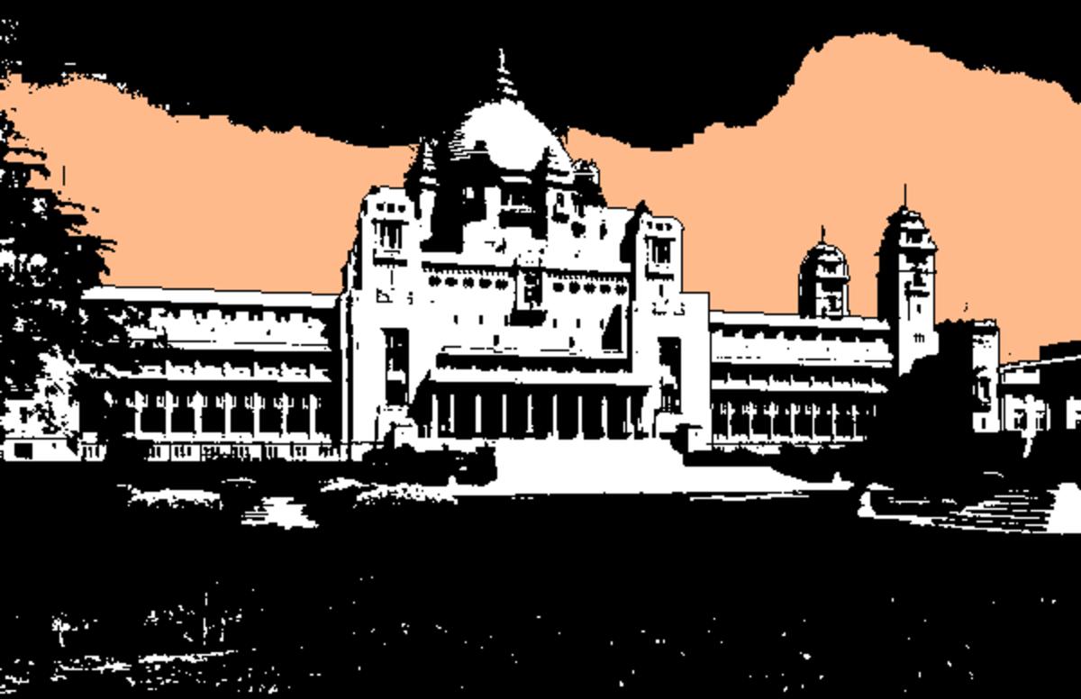 The Royal Palace at Bikaner