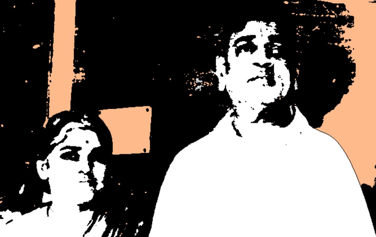 Janaki and Swami at Benaras (early 1960s)
