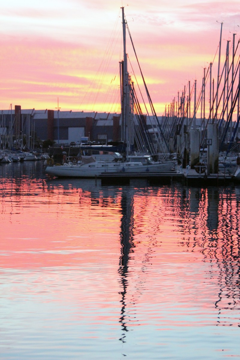Sunset In Cherbourg