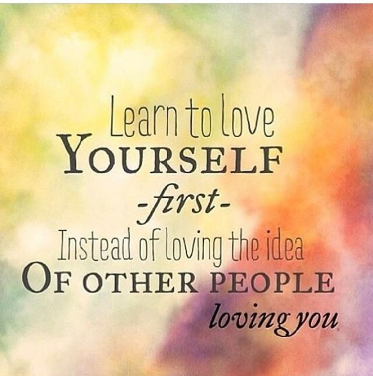 Always love yourself
