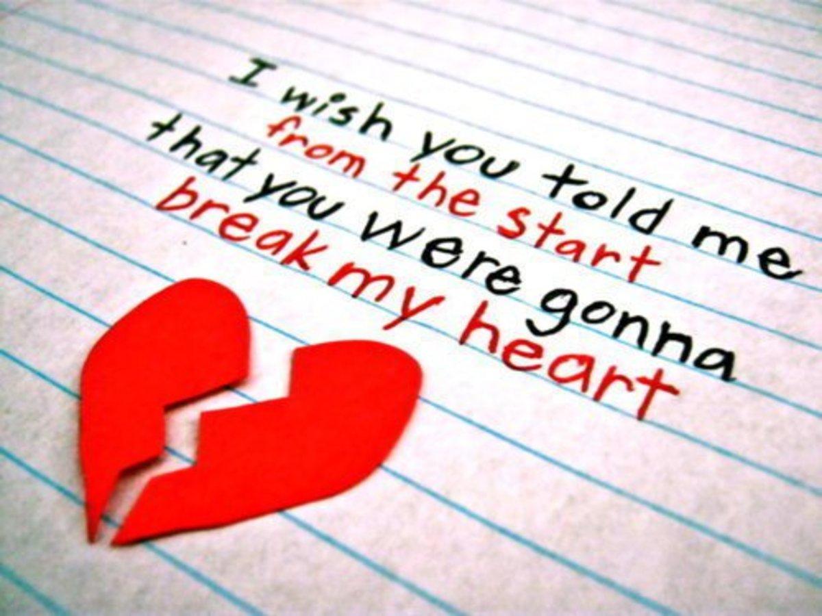 short broken heart poems