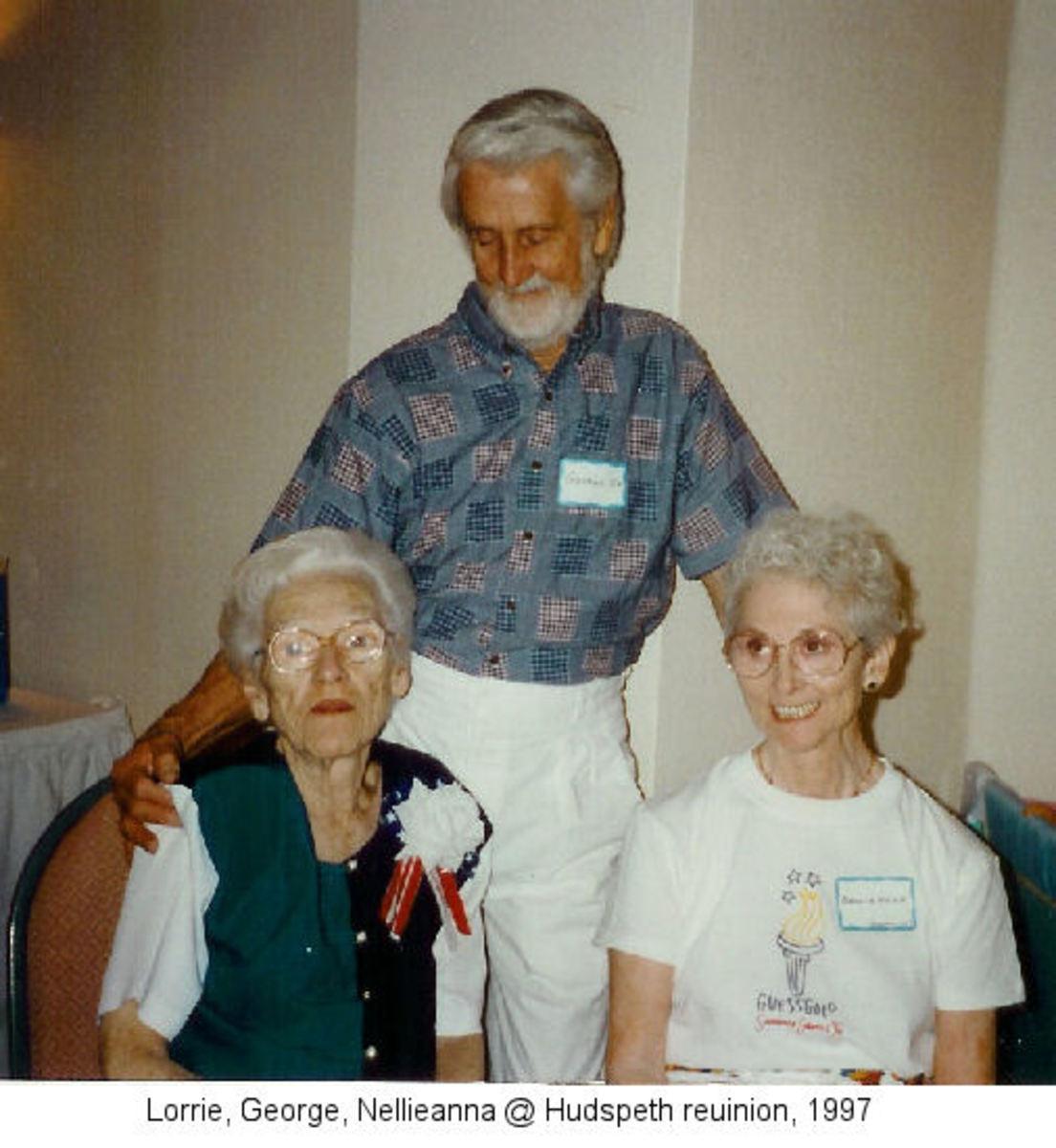 Lorrie, husband George, Nellieanna, 1997.