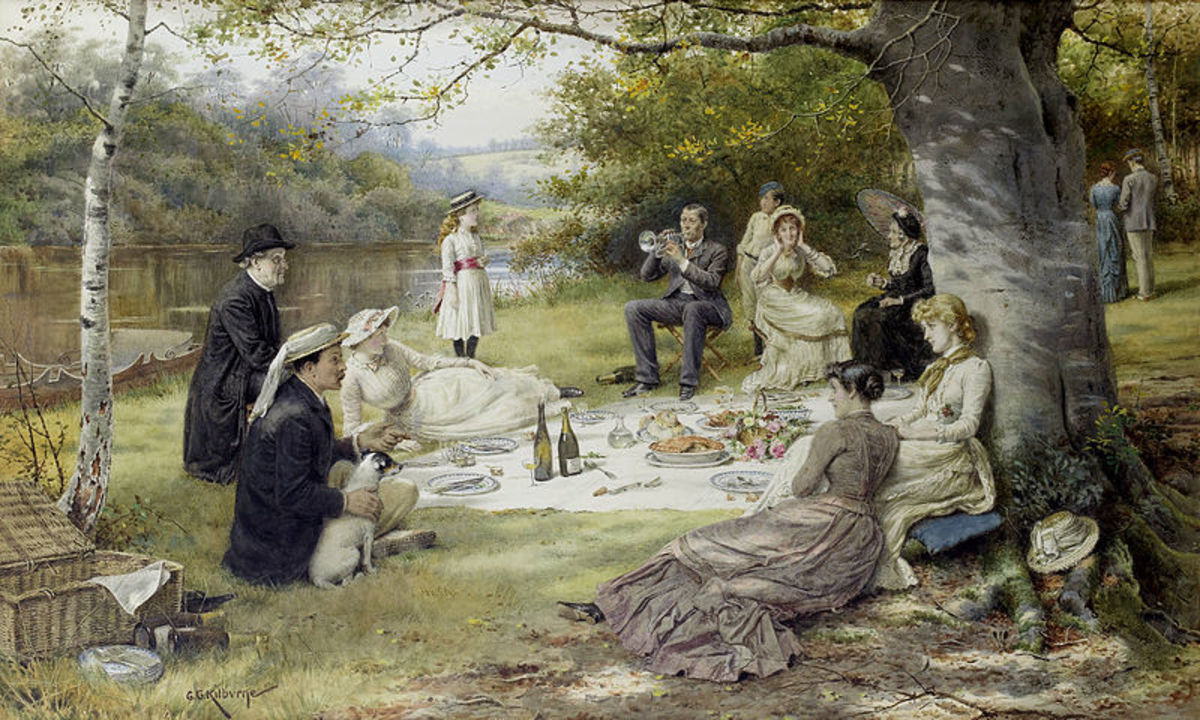 The Picnic by George Goodwin Kilburne 1900