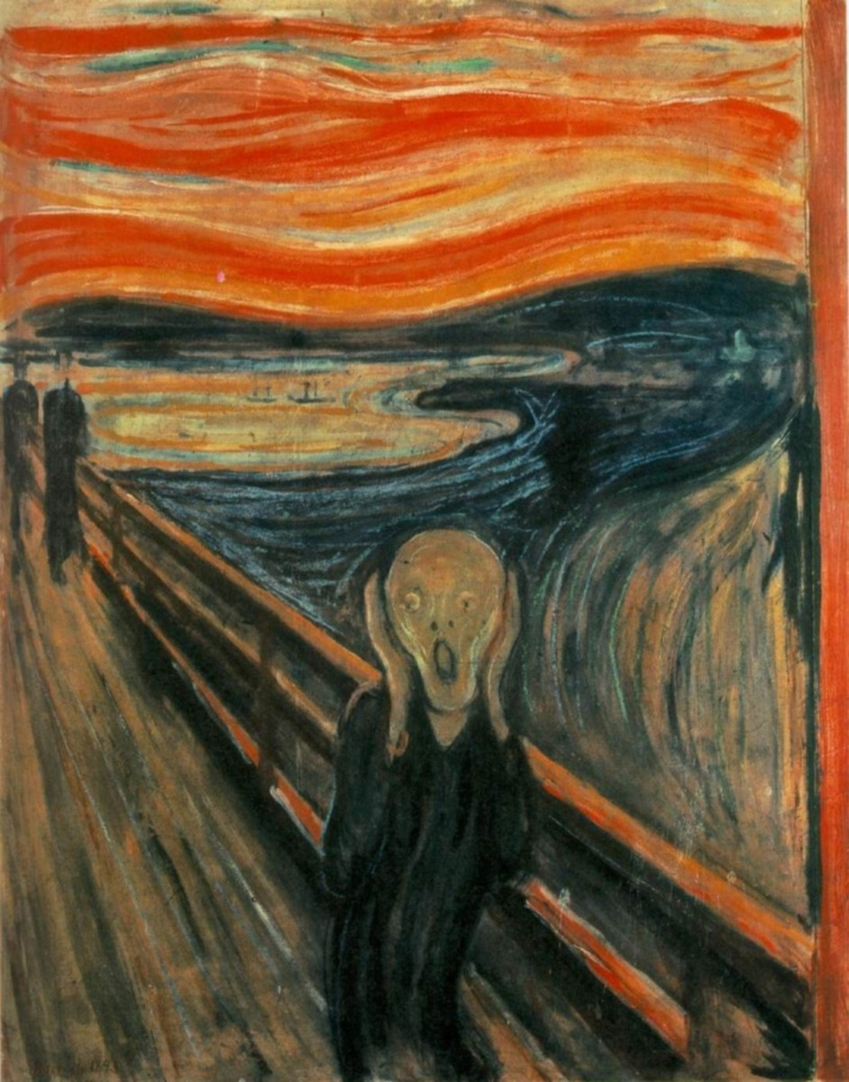The Scream is one of the most disturbing and Iconic paintings out there today.