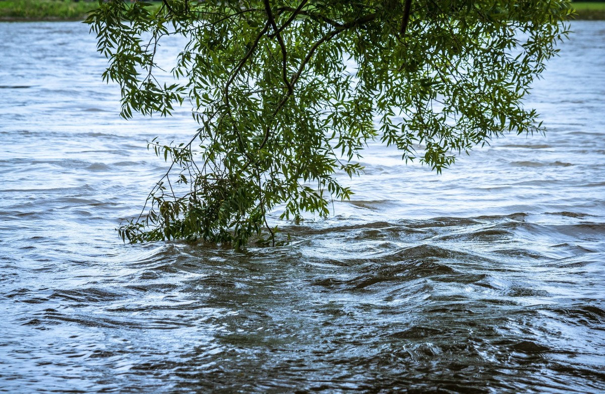 The river had overflowed its banks, making the area impassable.