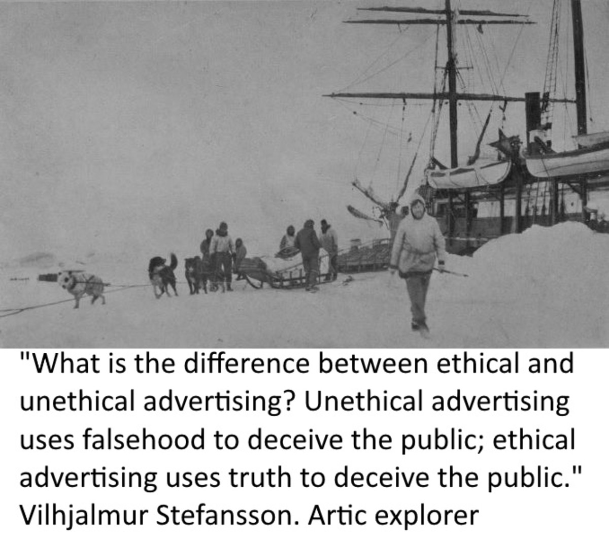 Any intent to influence for the sake of private profit is unethical. Advertising influences through a soft brainwashing process - constant repetition.
