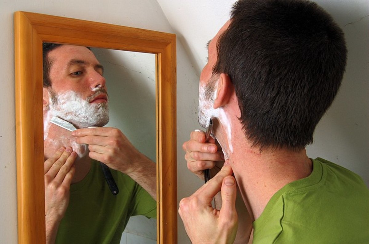 """Or . . .is """"this"""" man someone who just loves to shave?"""