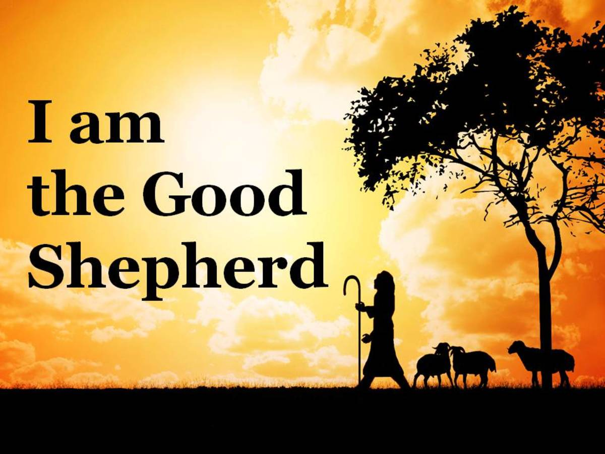 Jesus is the Good Shepherd that provides for us and protects us.