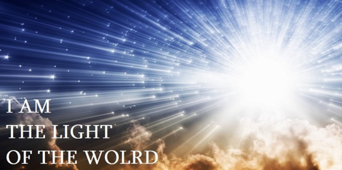 Jesus is the Light of the World to brighten up our dark places.