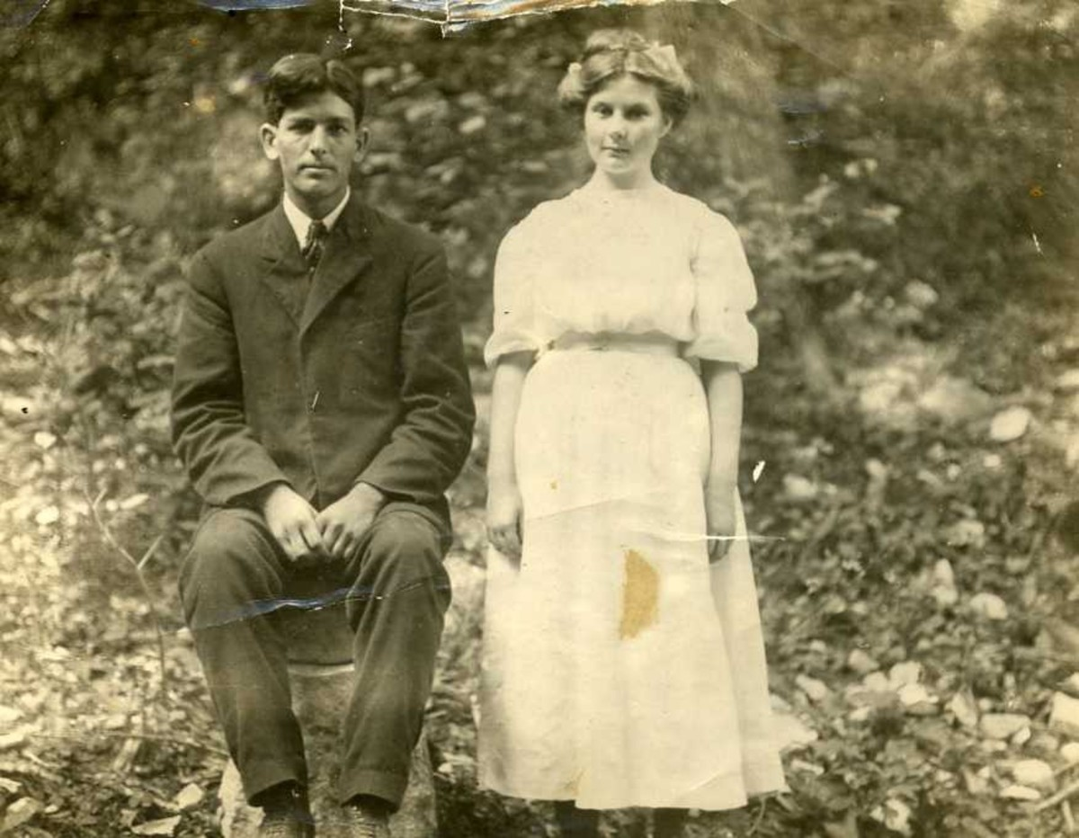 My grandmother and an unidentified friend or relative.