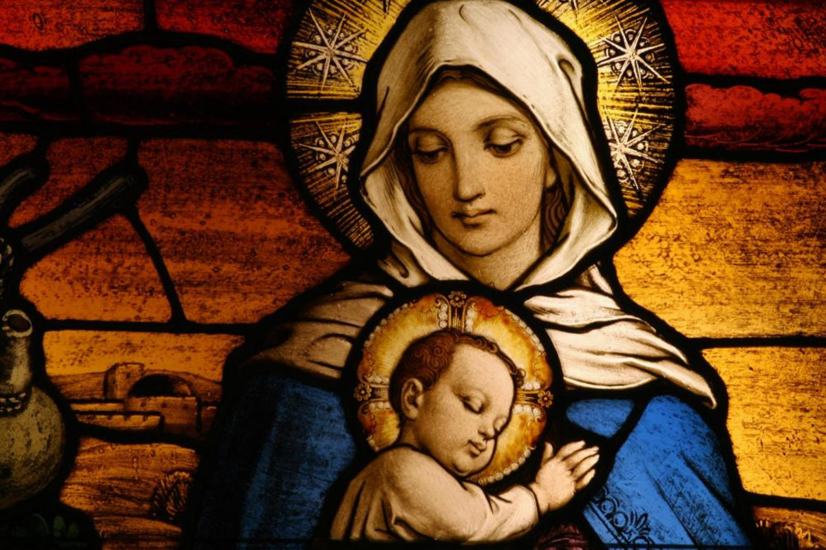 Picture of Mary and her baby