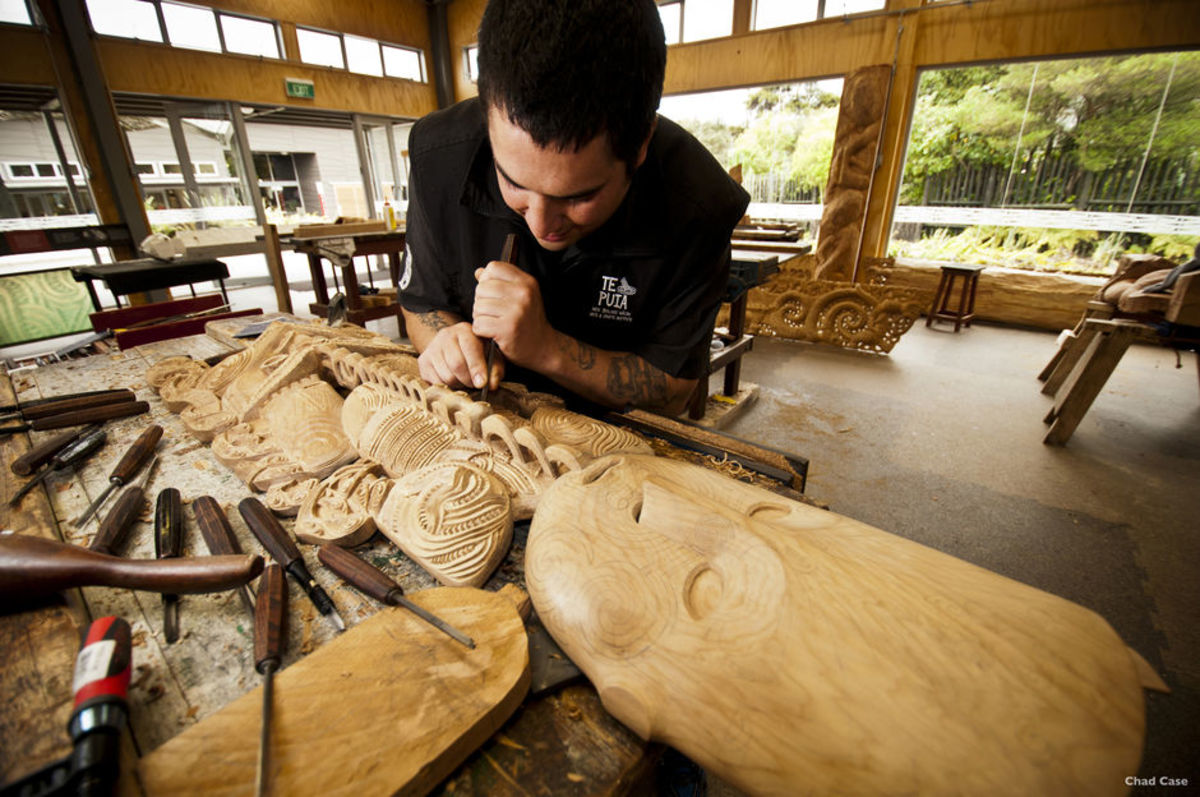 Modern Wood Carving in Traditional Style