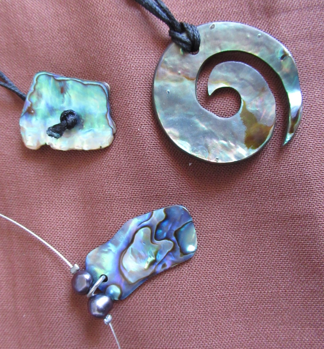 Paua Shell (Abalone) made into Beautiful Jewellery