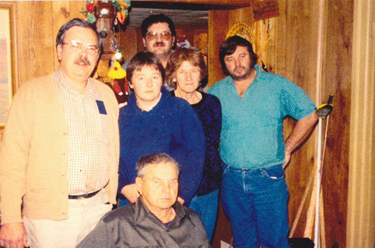 Picture taken in December 1987.  Author is on the left standing next to sister Pat.  Also pictured are dad, mom, brother-in-law Donnie, and brother Philip