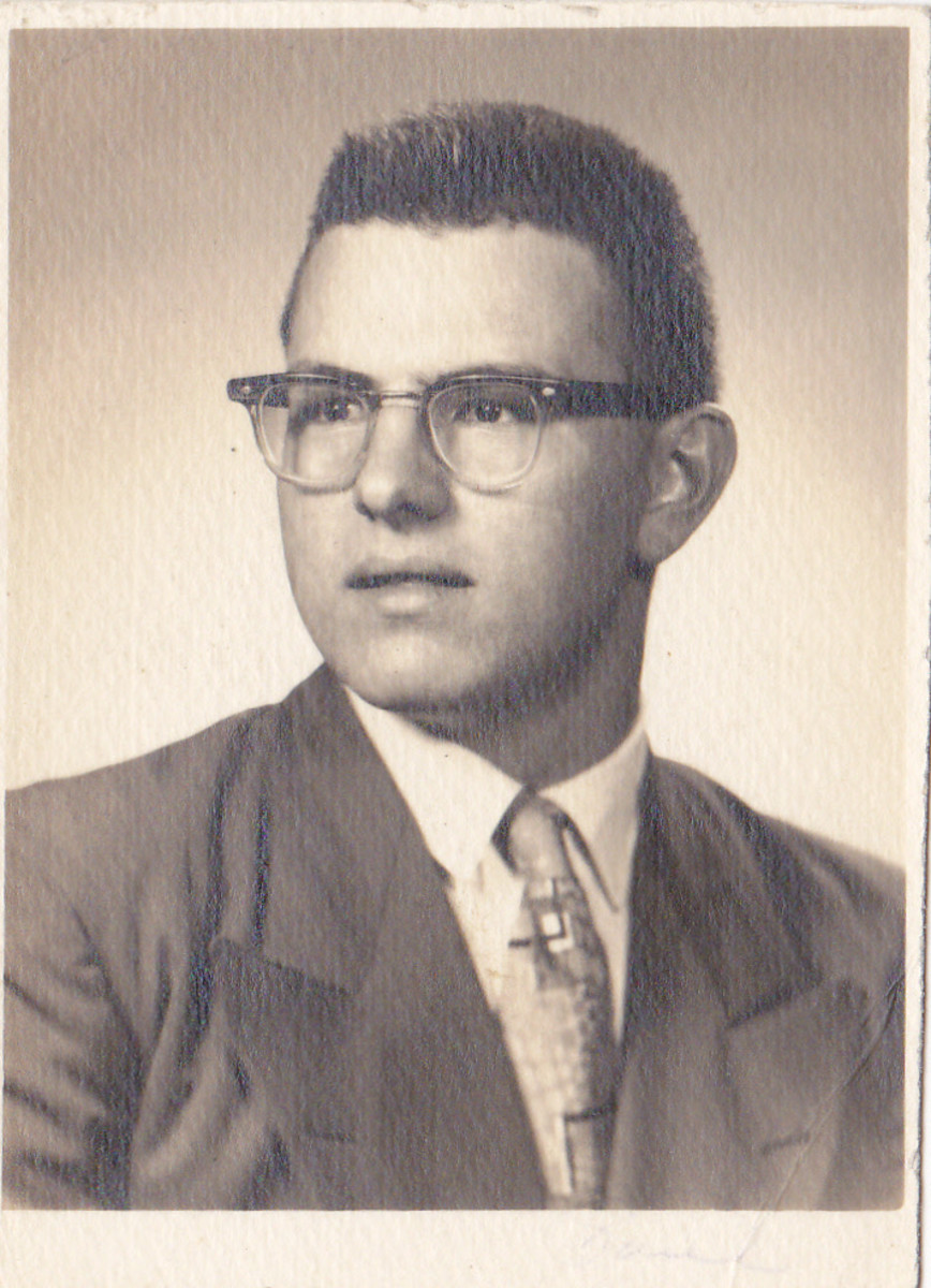 My senior high school yearbook picture 1962