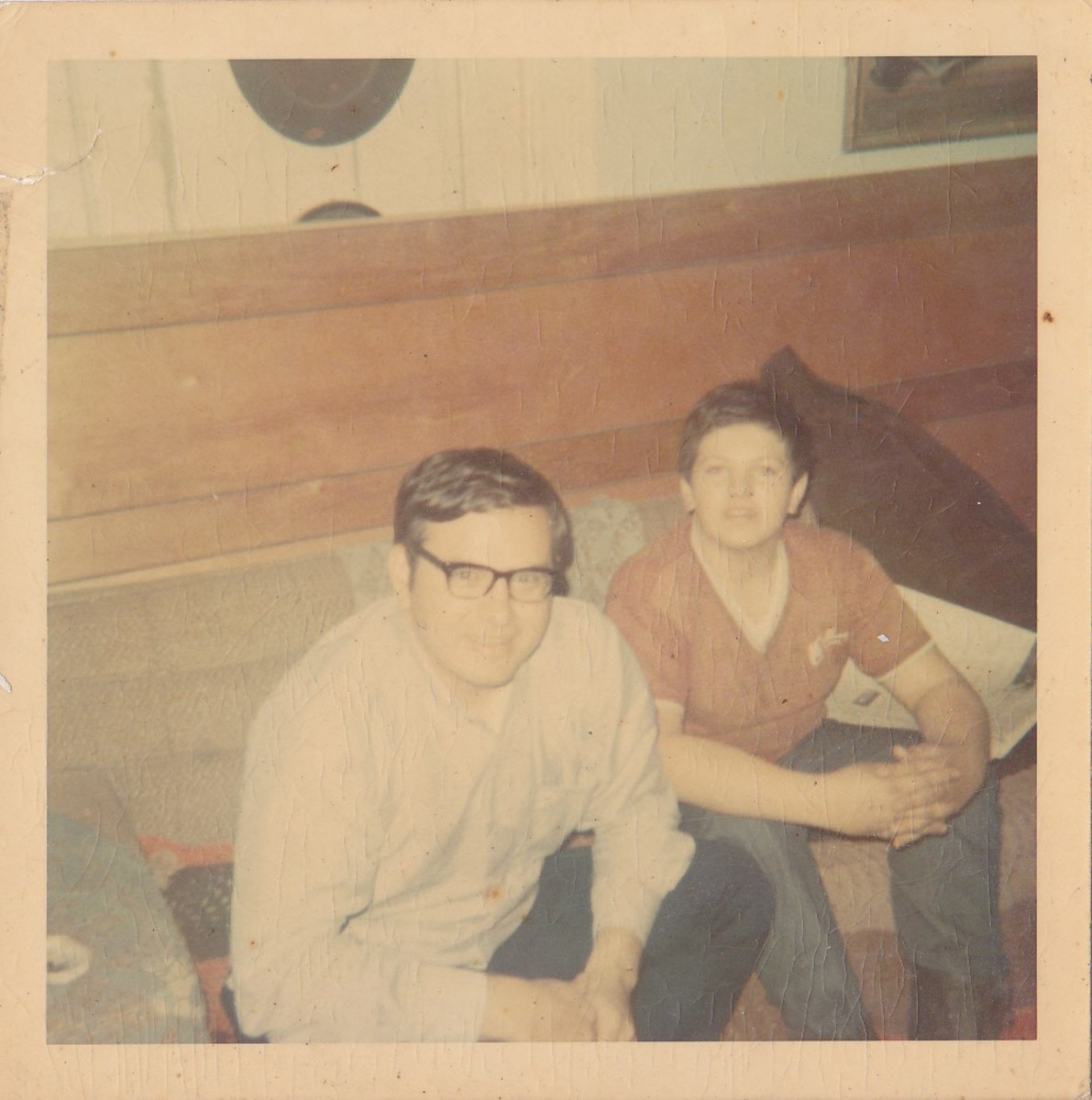 picture taken in March 1970 while in Navy and home on leave.  My brother Philip is seated next to me.
