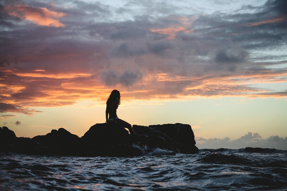 The girl finally returned to the sea where she belongs.