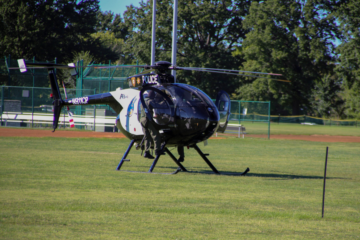 One of the police helicopters that serve St. Louis City, St. Louis County and St. Charles County