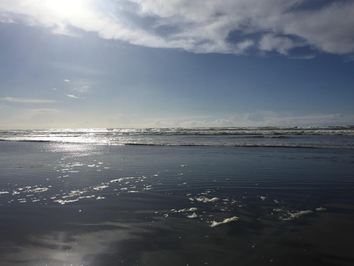 Stars of light shimmering, the ocean all adorned.