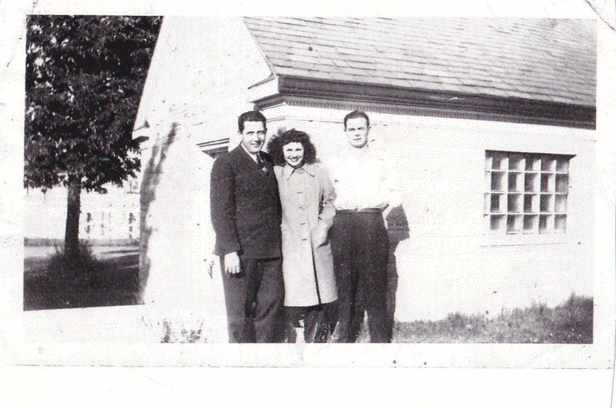 From left to right:  Chuck Hyland, Aunt Marie, and Uncle Dick.  Picture taken around 1950.