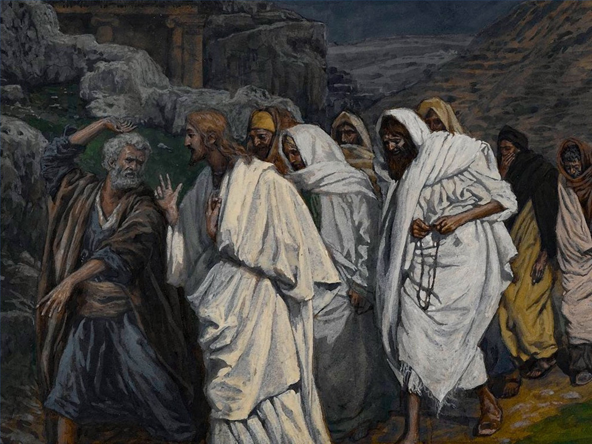 Jesus walks with his disciples to the garden of Gethsemane.