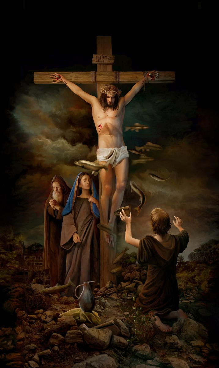 """Jesus prayed from the cross, """"Father, into Your hands I commit My Spirit."""""""