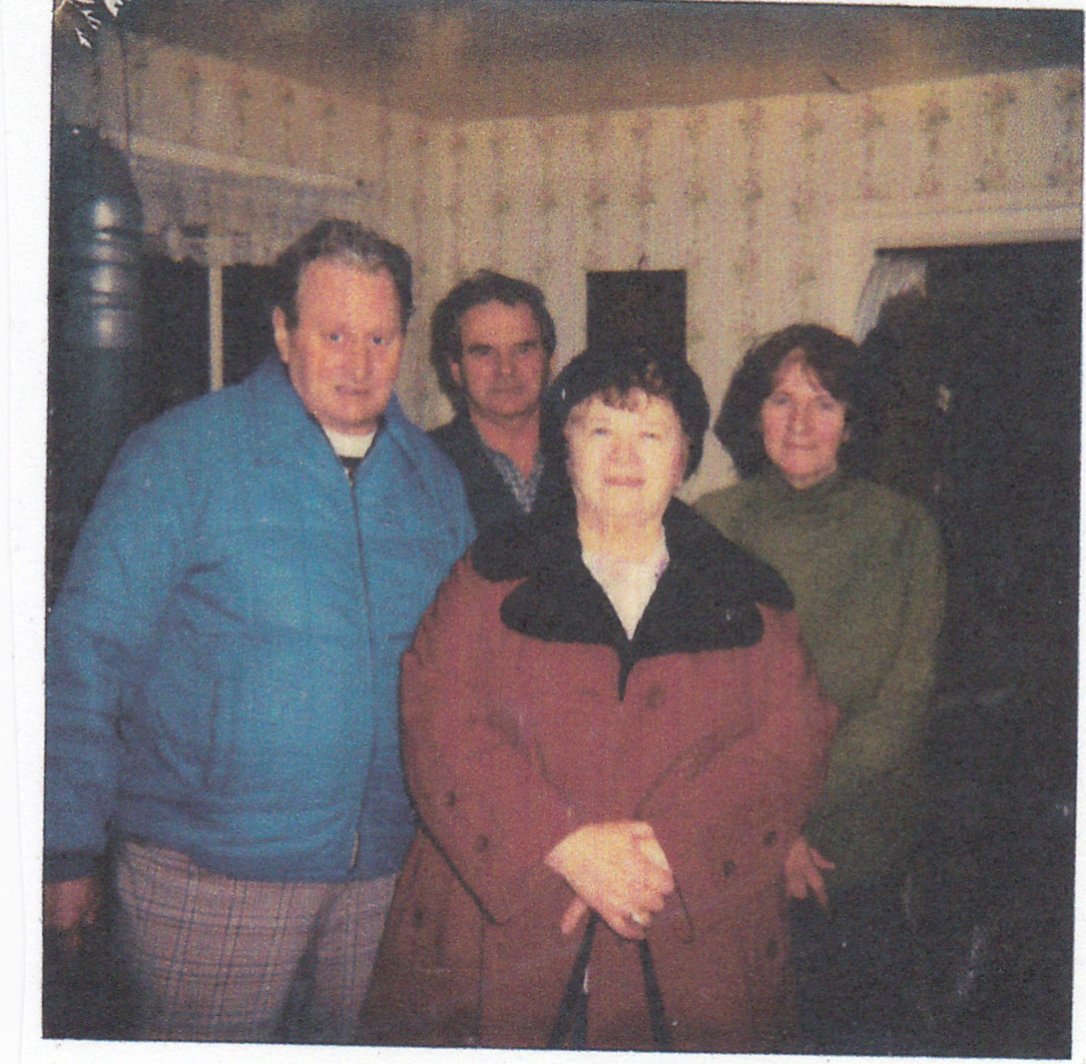Standing in front left to right:  uncle Augie and his second wife Sylvia.  Standing in back are my father and mother.  Picture taken about 1985.