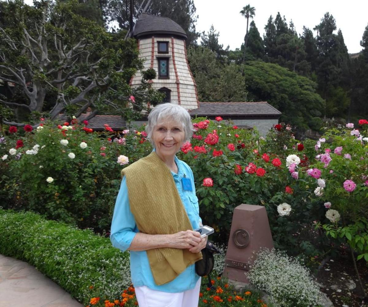 Linda Sue Grimes at the SRF Windmill Chapel