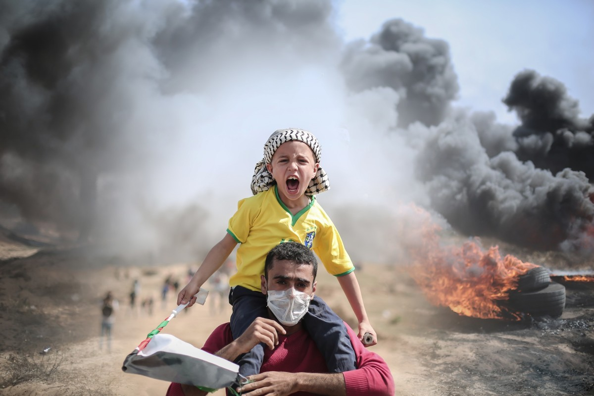 The Gaza Strip, Palestine: Fleeing the bombing