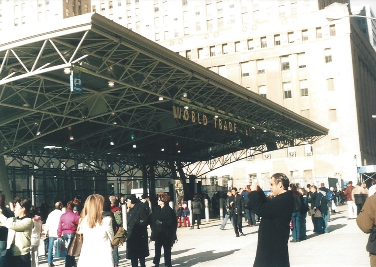 The World Trade Center train station, December 2004.