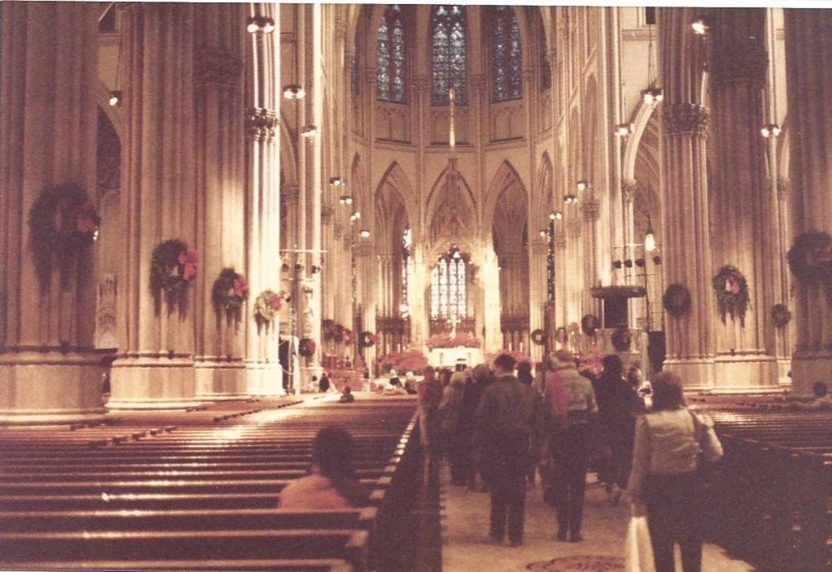 St. Patrick's Cathedral, Manhattan, New York, Christmas, 1983.
