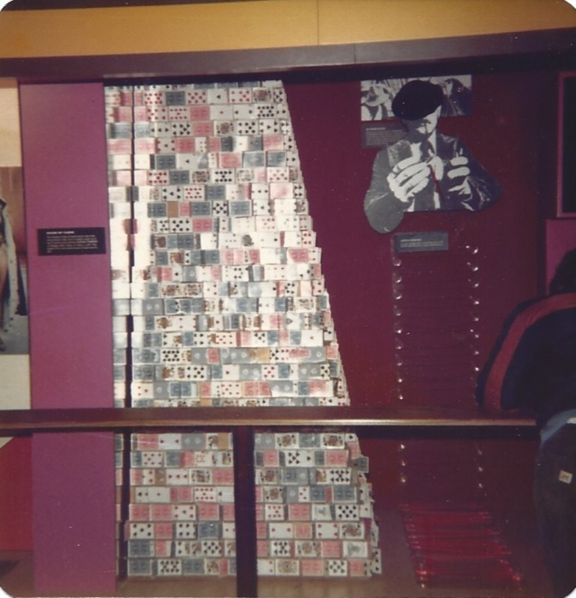 Display at the Guinness Book of World Records Museum, inside the Empire State Building, December 1979.