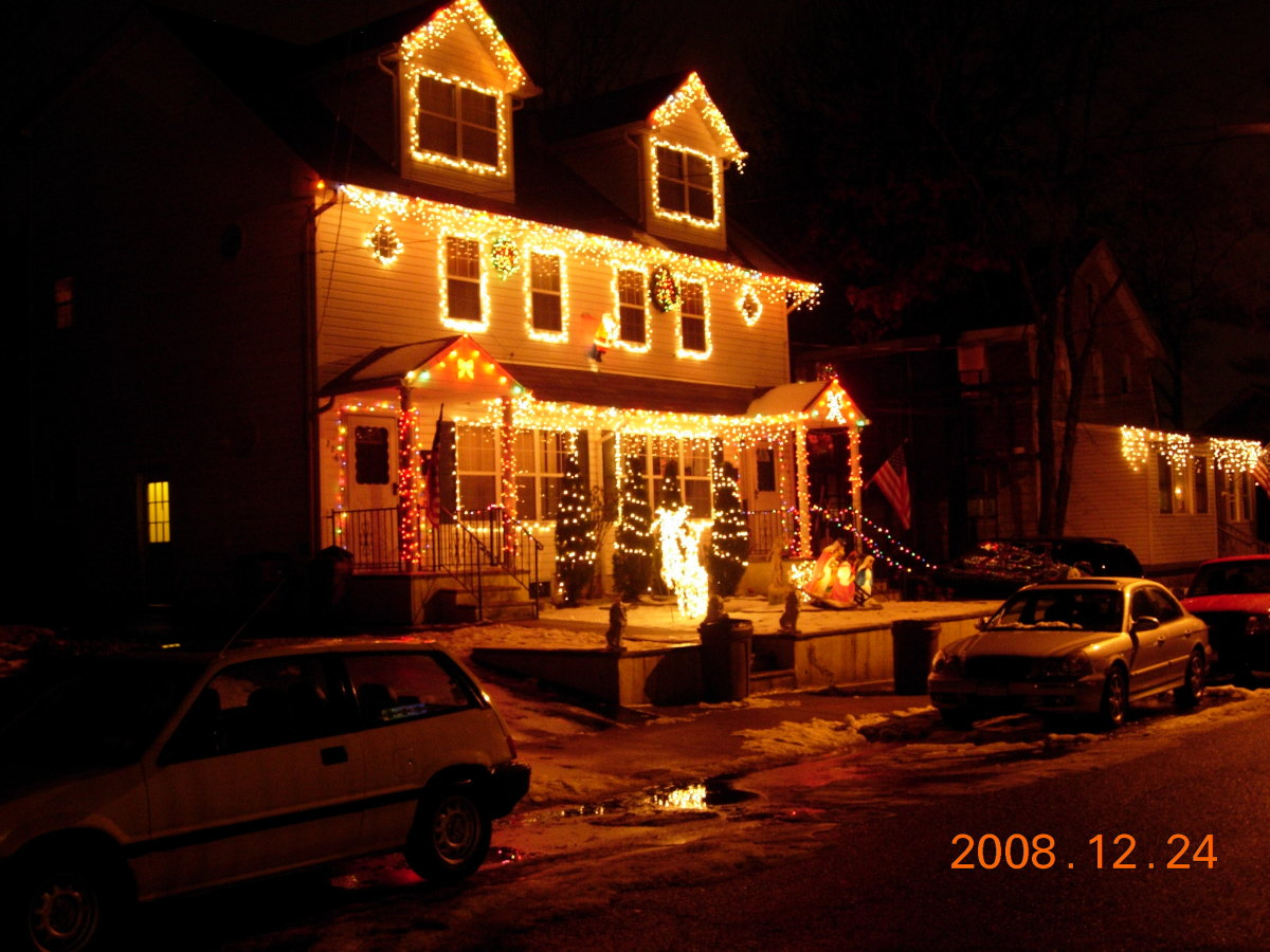 A house in Staten Island on Christmas Eve, 2008.