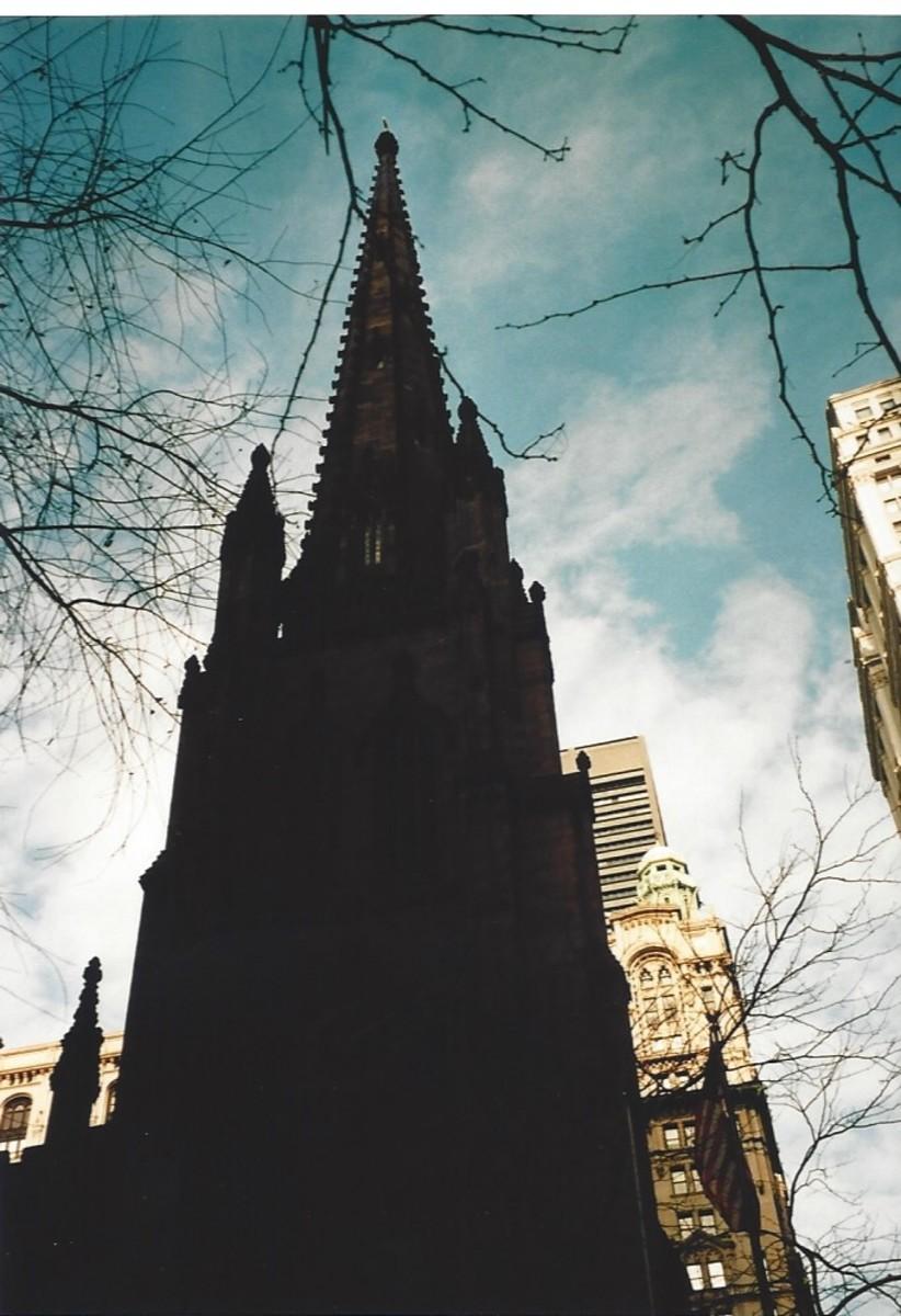 The Trinity Church steeple.