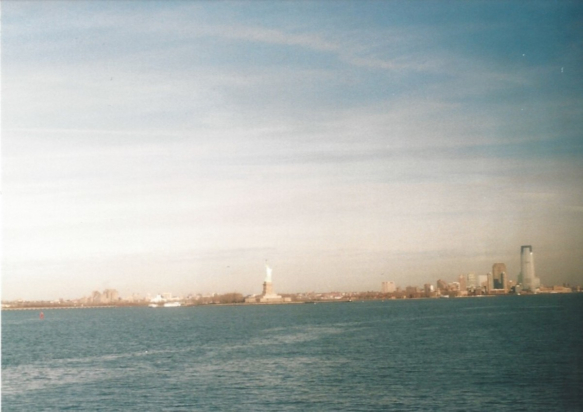 The Statue of Liberty from the Staten Island Ferry, December 2002.