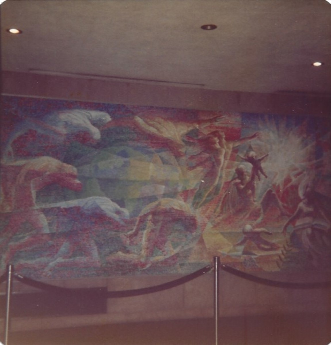 Painting inside the United States Building, New York  Technically the UN is not part of the United States.
