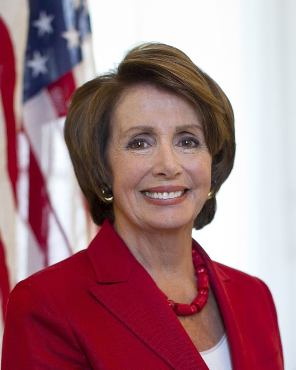Official portrait of U.S. Representative and Speaker of the House Nancy Pelosi.
