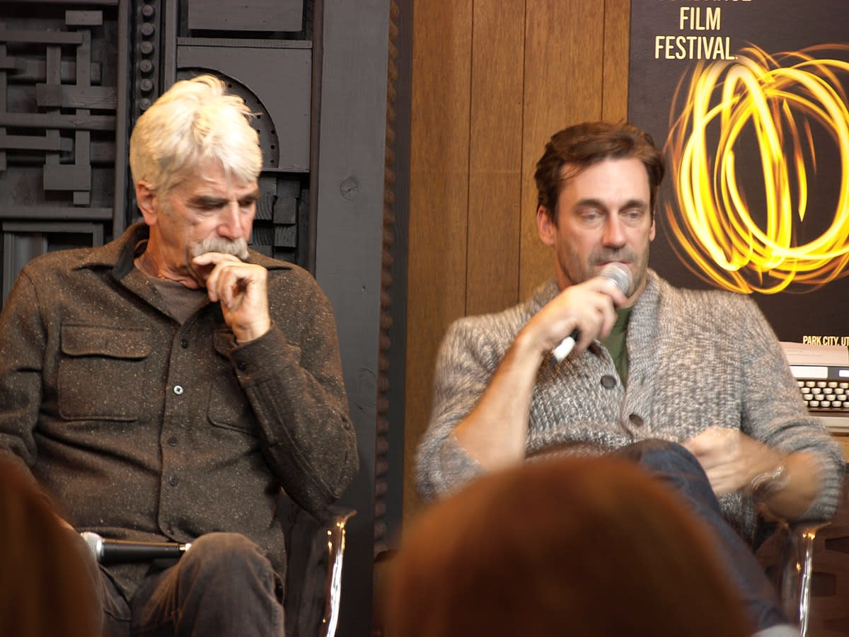Sam Elliott and Jon Hamm discus films at  Sundance 2017.