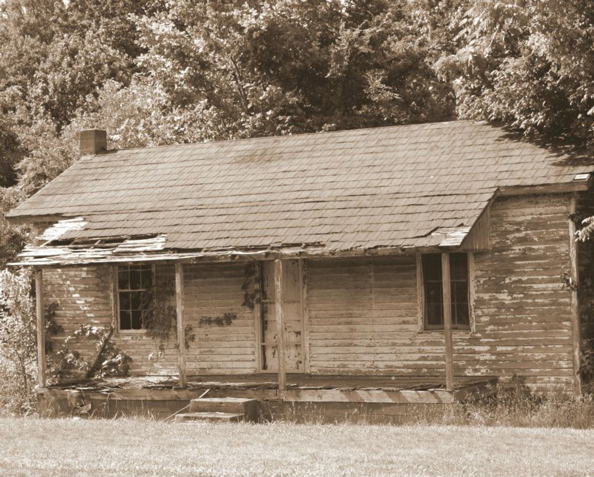 This is the house that inspired this poem. It is located next to my old elementary school, and I remember when it was lived in.