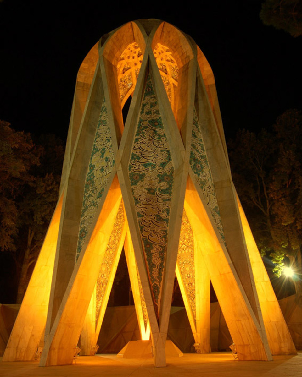 Here is some magnificence above Omar Khayyam's grave.